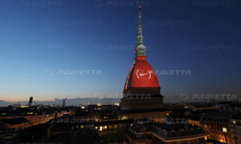 Projektion von Nike-Logo - Mole Turin