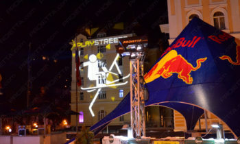 Red Bull Play Street Werbeszenografische Projektionen
