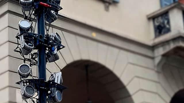 Projektor im Freien