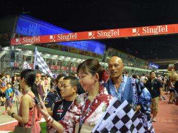 Singapur 2013 Werbeszenografische Projektionen
