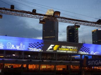 Singapur 2017 Werbeszenografische Projektionen