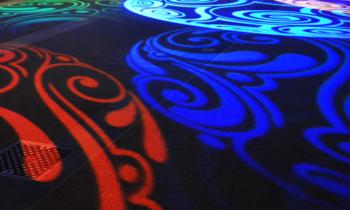 Proiezioni decorative a pavimento