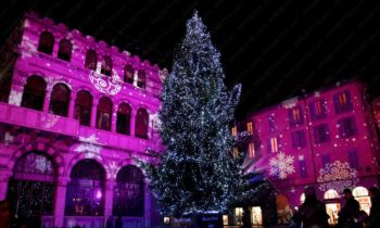 Weihnachts-Projektionen - Como Magic Light Festival