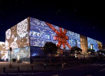 Projektionen auf große Einkaufszentren