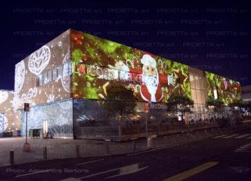 Weihnachtsprojektionen fuer Einkaufszentren