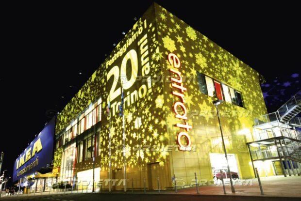 Weihnachtsprojektionen für Einkaufszentren - Ikea Arredamenti