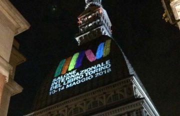 Turin Buchmesse-Projektion des offiziellen Logos