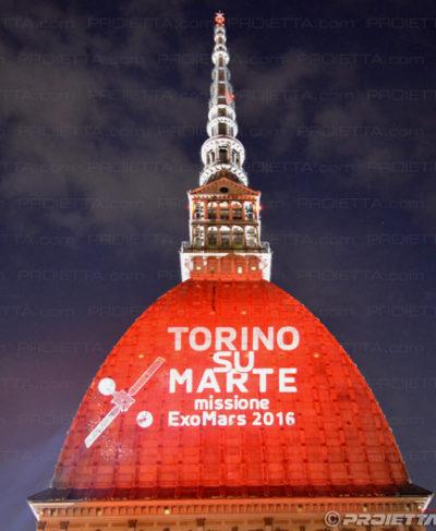 Projektion auf dem Mole Antonelliana