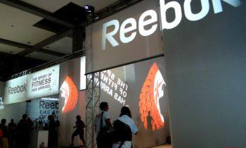 Projektionen für Reebok Fitness Messe