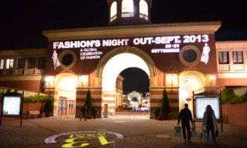 Serravalle Outlet Village Fashion Night Werbeszenografische Projektionen