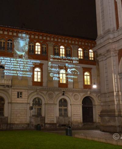 Projektion-ExoMars Veranstaltung-Turin