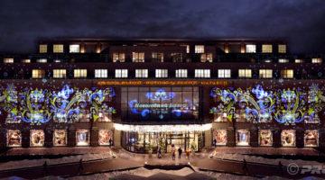 Tsum Einkaufszentrum in Moskau - Weihnachtsprojektionen