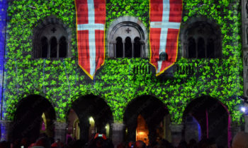 Dekorative Projektionen mit einem mittelalterlichen Thema