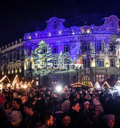 Weihnachtsprojektoren in Sibiu