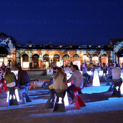 Outlet village in Serravalle Fashion Night Veranstaltung
