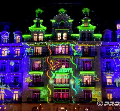 Montreux Weihnachts-Videomapping