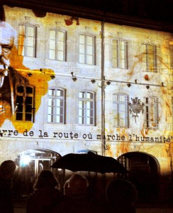 Projektion Videomapping Museum Victor Hugo