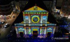 Giaveno: Videomapping auf der Kirche von San Lorenzo