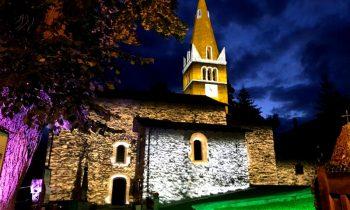 Proiezione architetturale mappata della chiesa di Sauze d'oulx