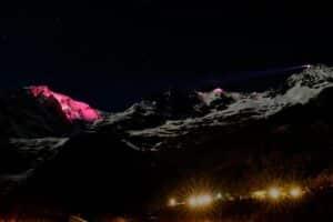 Proiezioni sul Monte Bianco