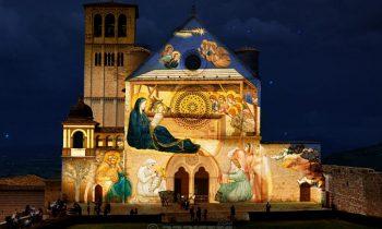 Proiezione sulla Basilica di San Francesco ad Assisi